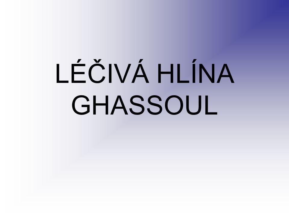 LÉČIVÁ HLÍNA GHASSOUL