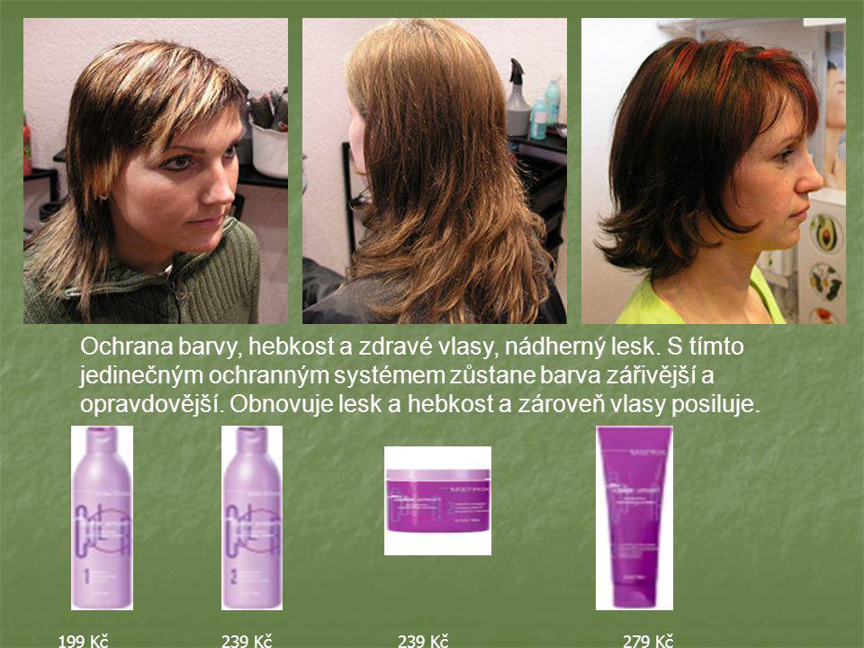 Ochrana barvy, hebkost a zdravé vlasy, nádherný lesk.