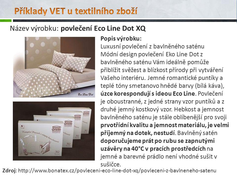 Popis výrobku: Luxusní povlečení z bavlněného saténu Módní design povlečení Eko Line Dot z bavlněného saténu Vám ideálně pomůže přiblížit svěžest a bl