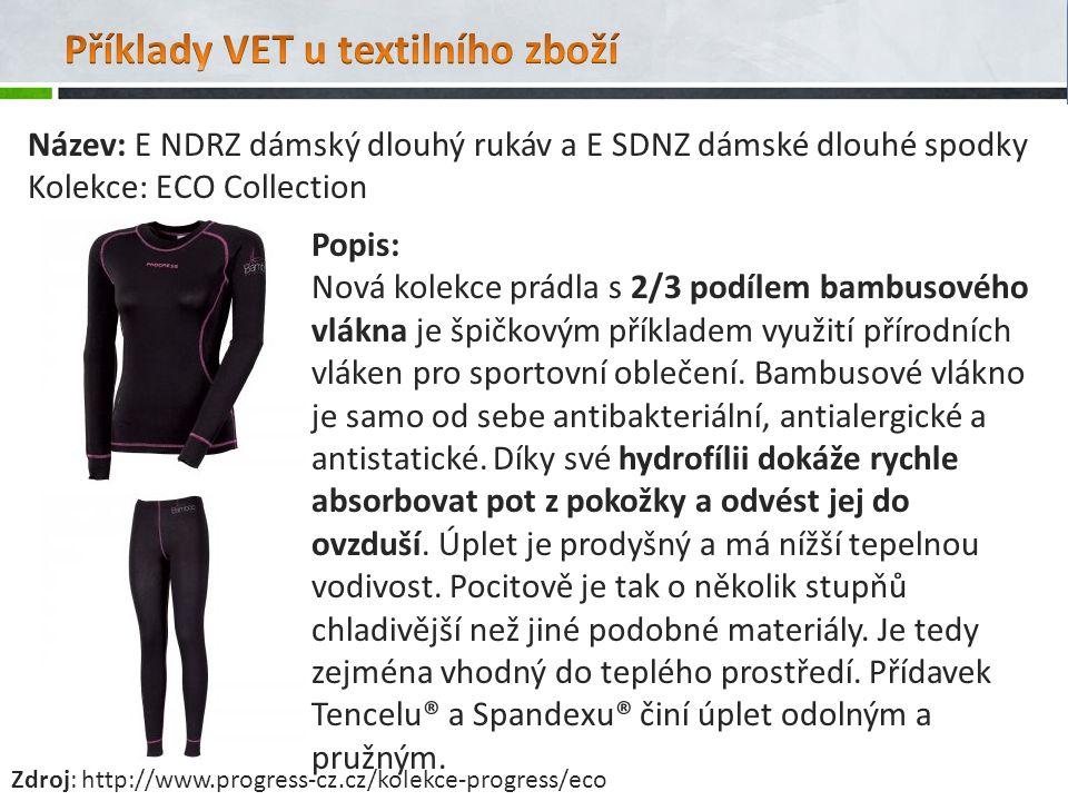Název: E NDRZ dámský dlouhý rukáv a E SDNZ dámské dlouhé spodky Kolekce: ECO Collection Popis: Nová kolekce prádla s 2/3 podílem bambusového vlákna je