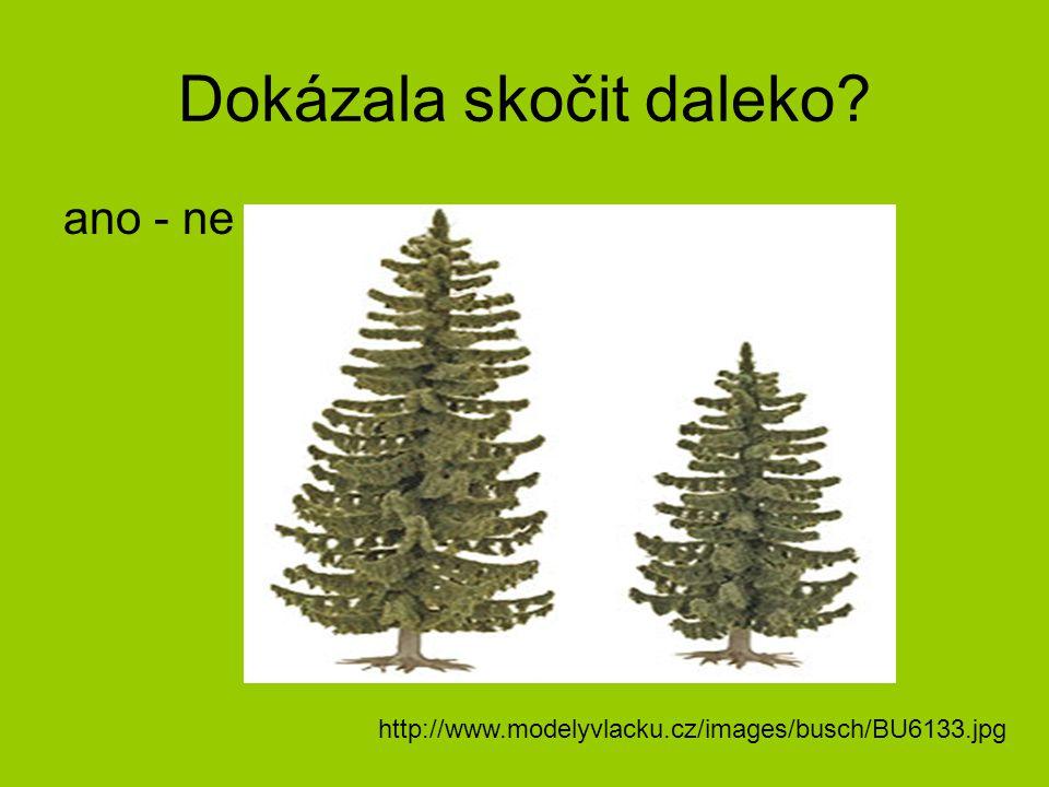 Dokázala skočit daleko? ano - ne http://www.modelyvlacku.cz/images/busch/BU6133.jpg