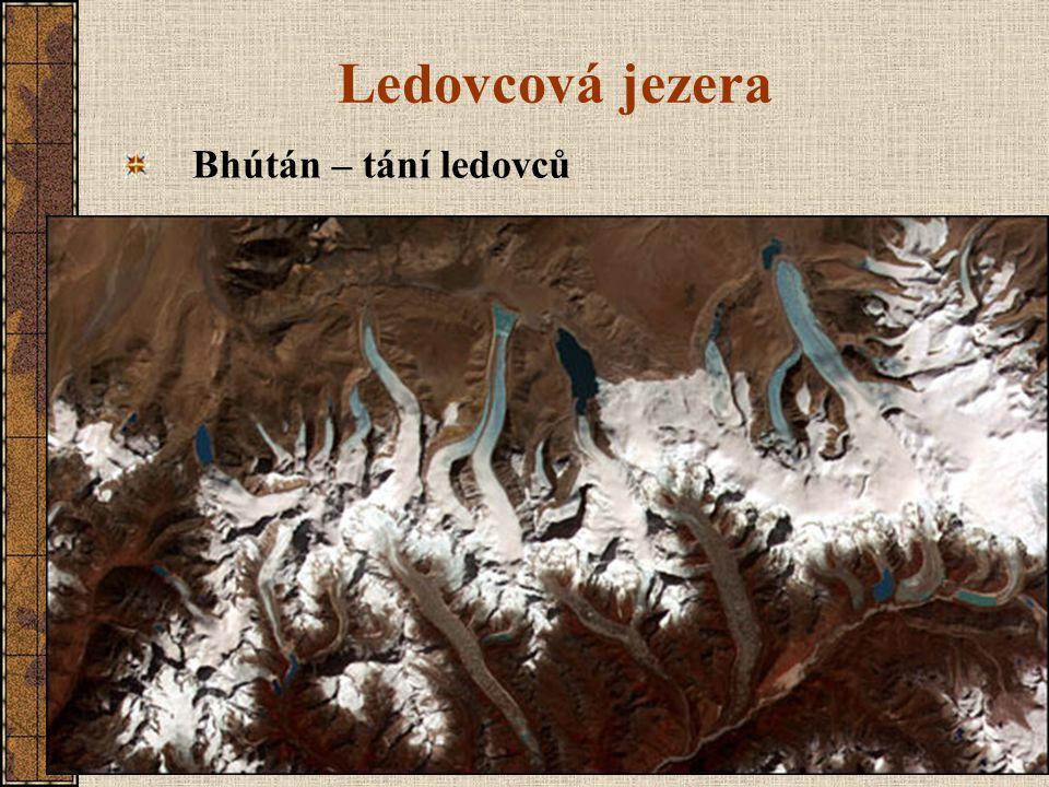 Ledovcová jezera Bhútán – tání ledovců