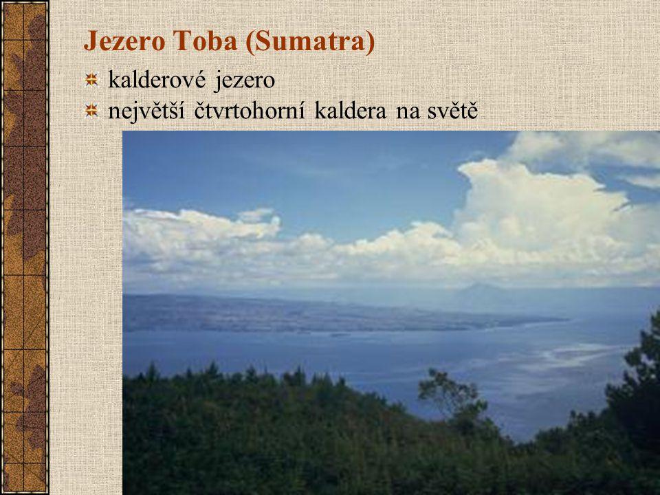 Jezero Toba (Sumatra) kalderové jezero největší čtvrtohorní kaldera na světě