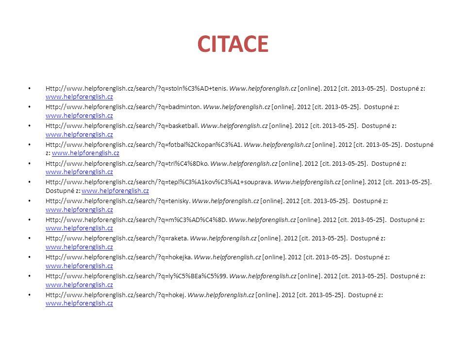 CITACE Http://www.helpforenglish.cz/search/?q=rychlobrusleni.