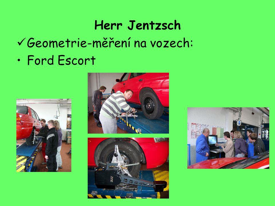 Herr Jentzsch Geometrie-měření na vozech: Ford Escort