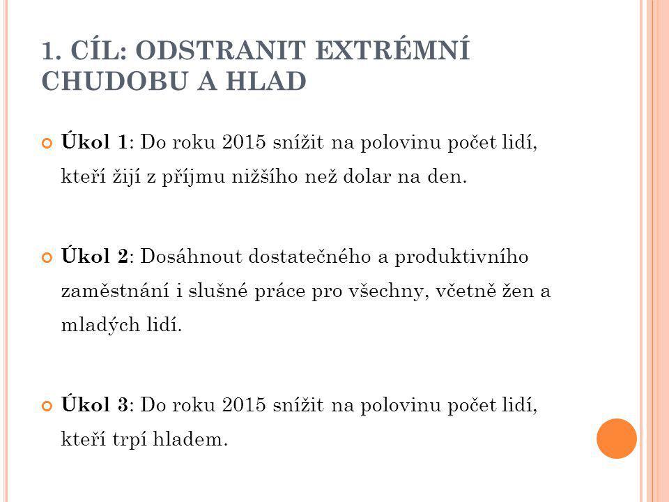 2.CÍL: DOSÁHNOUT ZÁKLADNÍHO VZDĚLÁNÍ PRO VŠECHNY Úkol č.