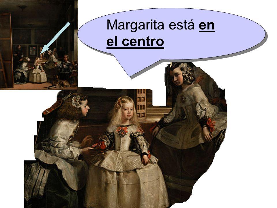 Margarita está en el centro