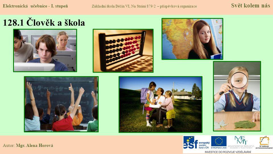 128.1 Člověk a škola Elektronická učebnice - I.
