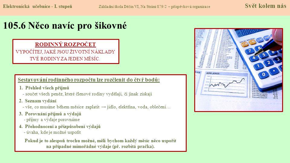 105.6 Něco navíc pro šikovné Elektronická učebnice - I.