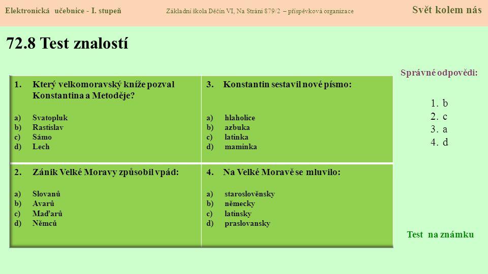 72.9 Použité zdroje, citace Elektronická učebnice - I.