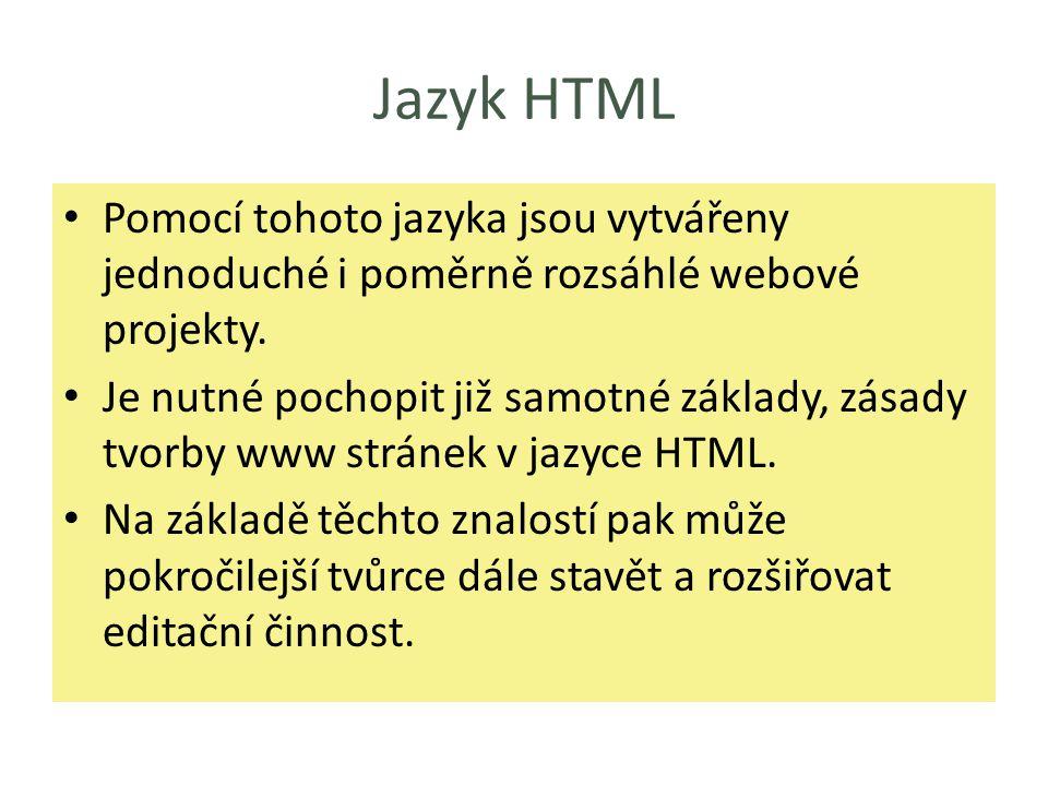Co je to HTML.