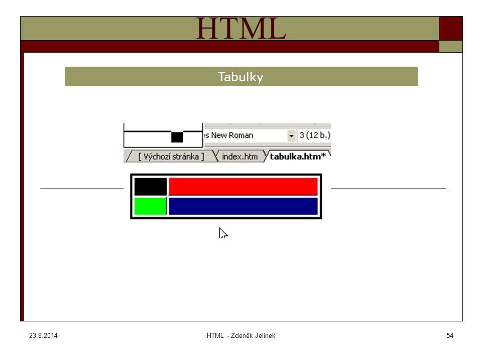 23.8.2014HTML - Zdeněk Jelínek54 HTML Tabulky