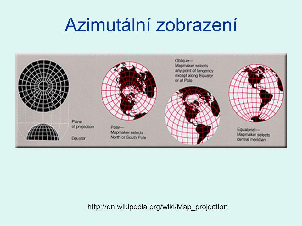 http://en.wikipedia.org/wiki/Map_projection Azimutální zobrazení