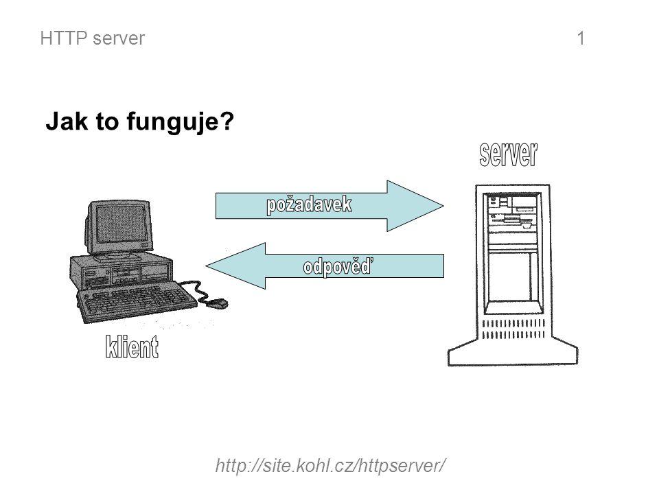HTTP server http://site.kohl.cz/httpserver/ 1 Jak to funguje