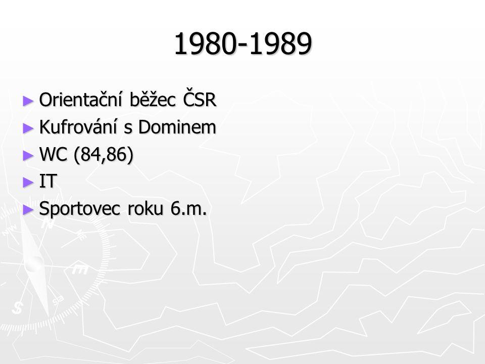 1980-1989 ► Orientační běžec ČSR ► Kufrování s Dominem ► WC (84,86) ► IT ► Sportovec roku 6.m.