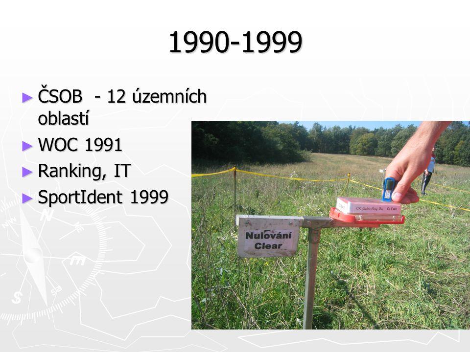 1990-1999 ► ČSOB - 12 územních oblastí ► WOC 1991 ► Ranking, IT ► SportIdent 1999