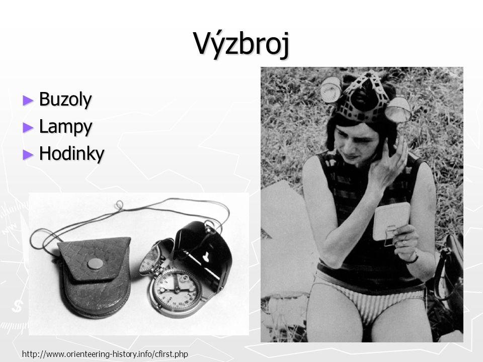 Výzbroj ► Buzoly ► Lampy ► Hodinky http://www.orienteering-history.info/cfirst.php