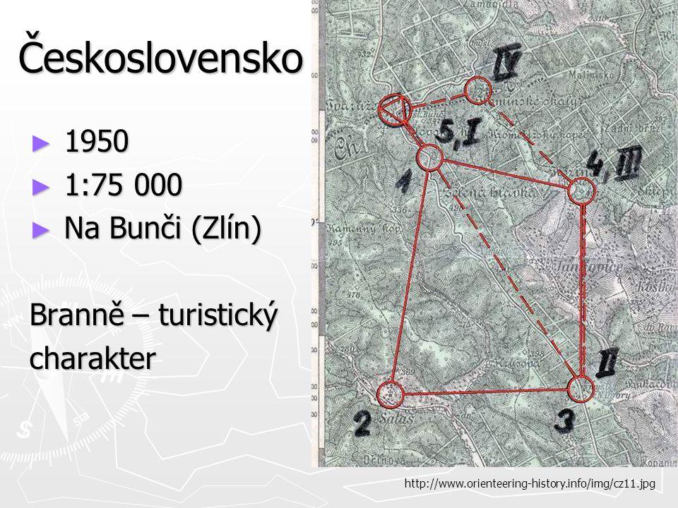 Československo ► 1950 ► 1:75 000 ► Na Bunči (Zlín) Branně – turistický charakter http://www.orienteering-history.info/img/cz11.jpg