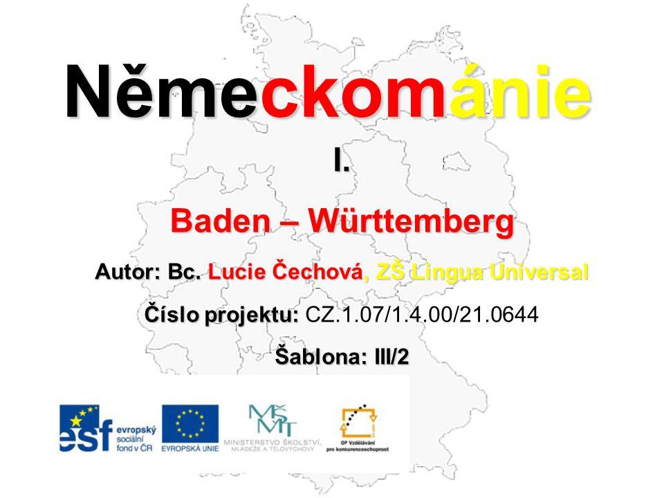 Německománie I.Baden – Württemberg Autor: Bc.