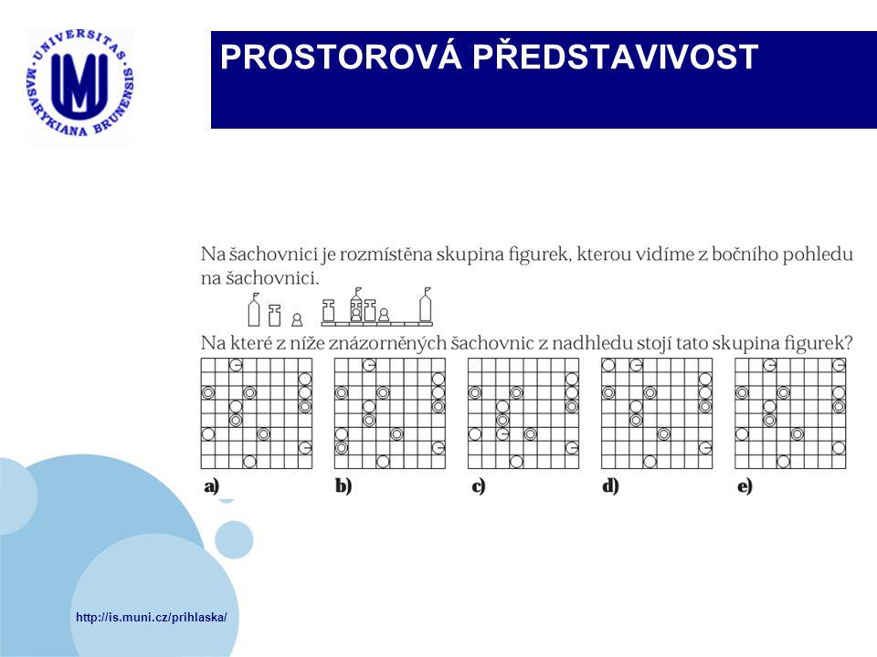 http://is.muni.cz/prihlaska/ PROSTOROVÁ PŘEDSTAVIVOST