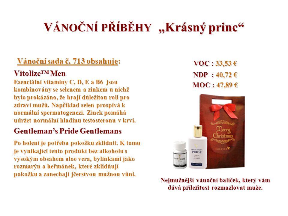 """V ÁNOČNÍ PŘÍBĚHY """"Krásný princ"""" Vánoční sada č. 713 obsahuje: Vánoční sada č. 713 obsahuje: Vitolize™ Men Esenciální vitaminy C, D, E a B6 jsou kombin"""