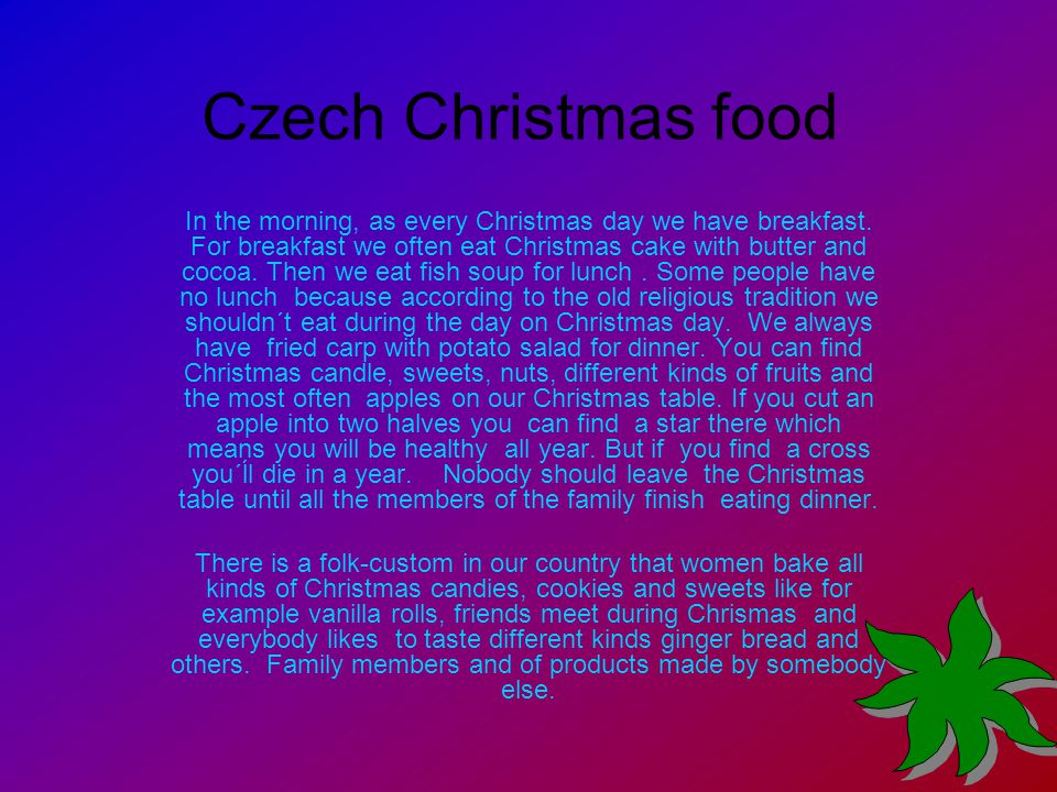 Czech Christmas food In the morning, as every Christmas day we have breakfast.