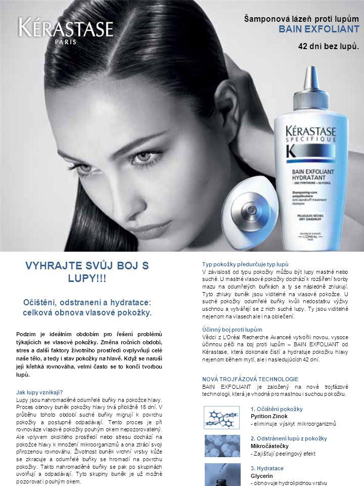 Šamponová lázeň proti lupům BAIN EXFOLIANT 42 dní bez lupů. VYHRAJTE SVŮJ BOJ S LUPY!!! Očištění, odstranení a hydratace: celková obnova vlasové pokož