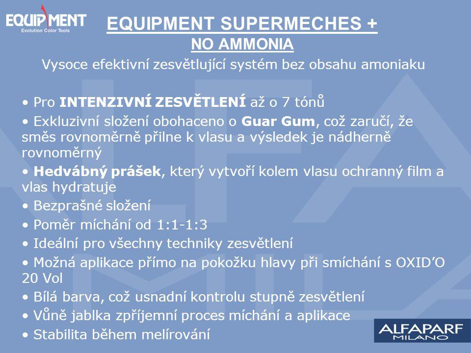 Vysoce efektivní zesvětlující systém bez obsahu amoniaku Pro INTENZIVNÍ ZESVĚTLENÍ až o 7 tónů Exkluzivní složení obohaceno o Guar Gum, což zaručí, že