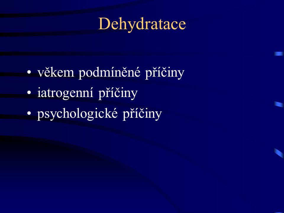 Dehydratace věkem podmíněné příčiny iatrogenní příčiny psychologické příčiny