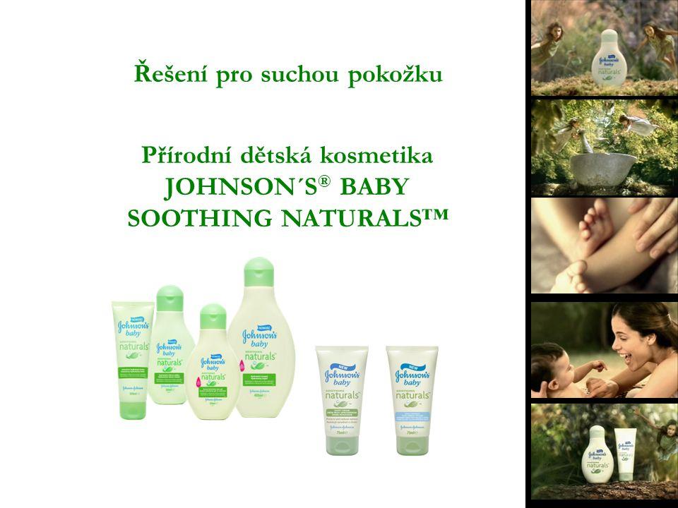 Řešení pro suchou pokožku Přírodní dětská kosmetika JOHNSON´S ® BABY SOOTHING NATURALS™