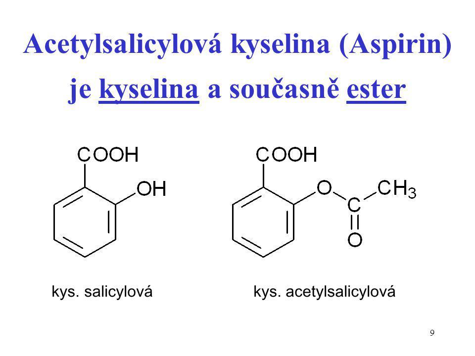 30 Lakton versus Laktam lakton je cyklický ester laktam je cyklický amid - H 2 O