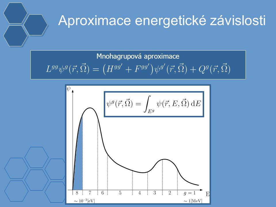 Mnohagrupová aproximace Aproximace energetické závislosti s