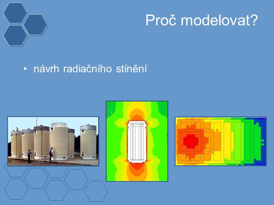 Proč modelovat? návrh radiačního stínění