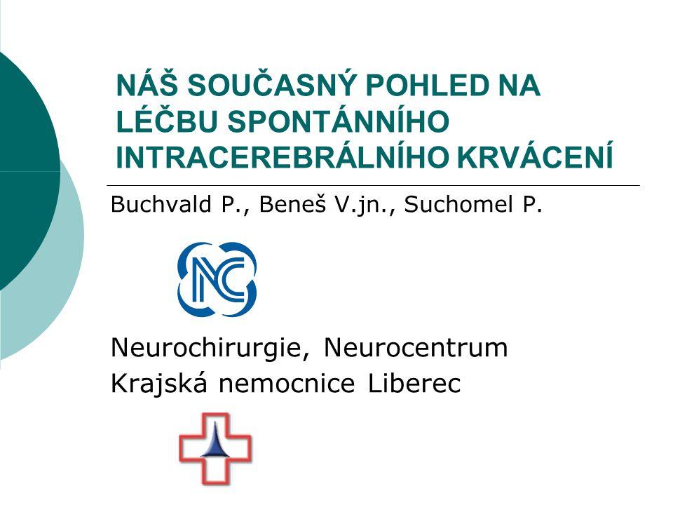 Epidemiologie ICH  15-20% CMP  Incidence stoupá s věkem  Mortalita 40-50%  ČR 15-25/100 tis.