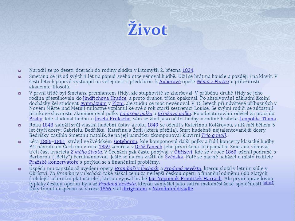  Narodil se po deseti dcerách do rodiny sládka v Litomyšli 2.