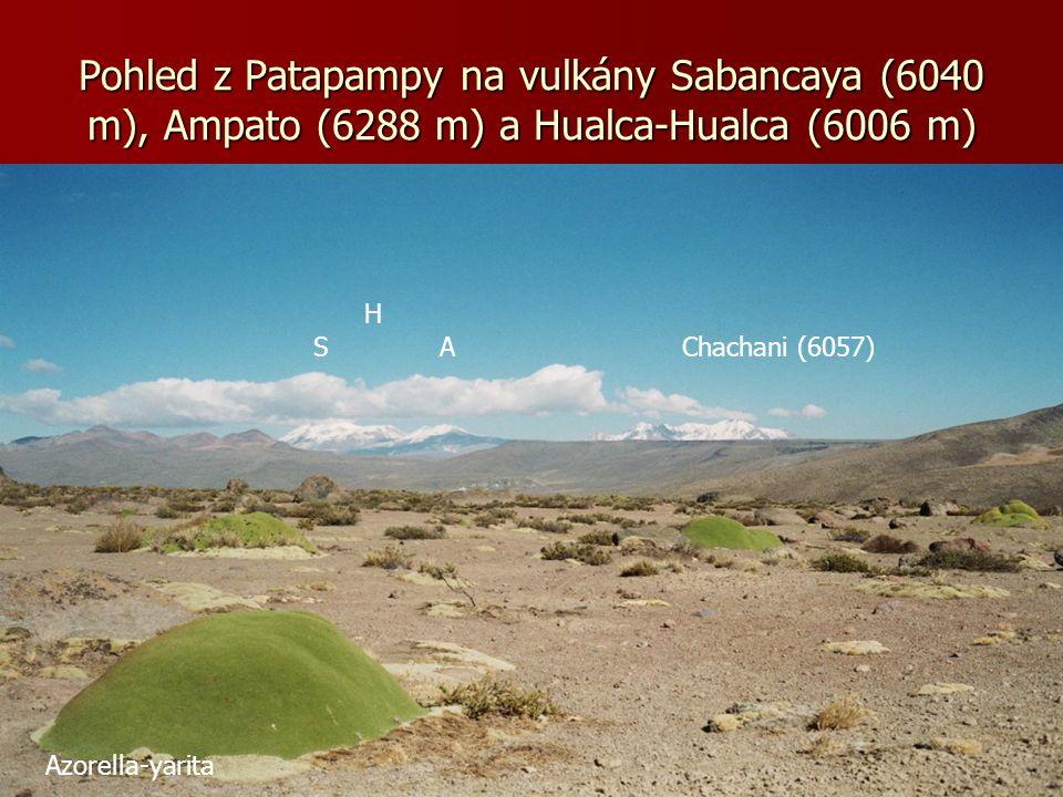 Na cestě z Arequipy na sedlo Patapampa (4850 m)