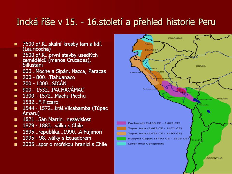 Na cestě za Inky………