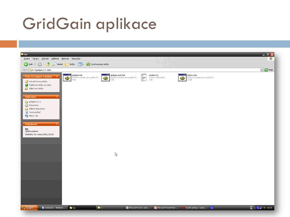 GridGain aplikace