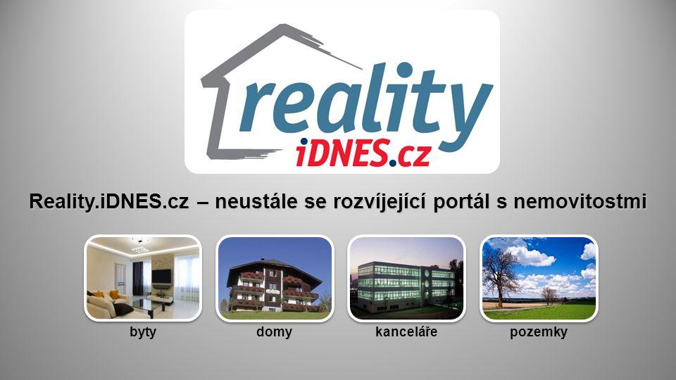 Reality.iDNES.cz – neustále se rozvíjející portál s nemovitostmi bytydomykancelářepozemky