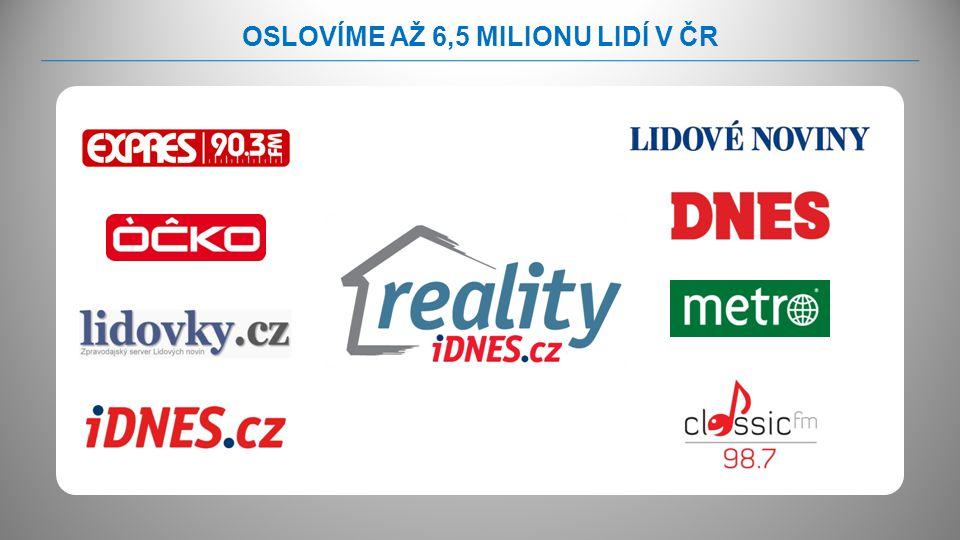 OSLOVÍME AŽ 6,5 MILIONU LIDÍ V ČR