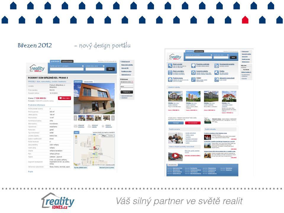 Březen 2012- nový design portálu