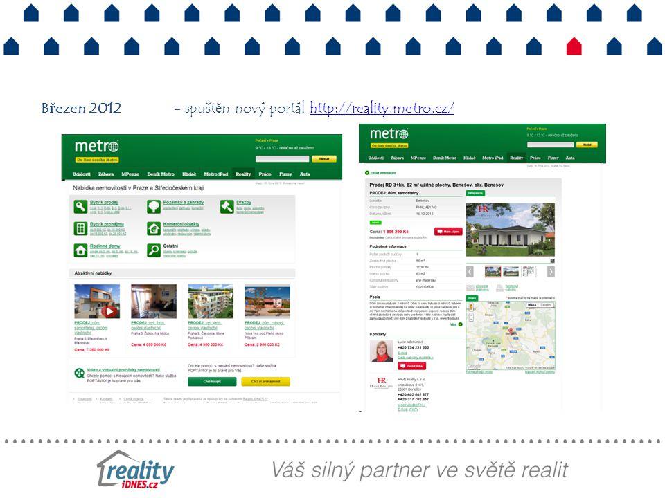 Březen 2012- spuštěn nový portál http://reality.metro.cz/http://reality.metro.cz/