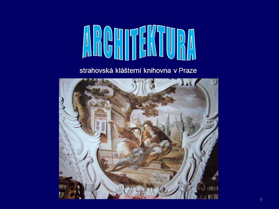 o omítka je kromě maleb zdobena tzv. štuky – plastickými ornamenty strahovská klášterní knihovna v Praze http://ella.rajce.idnes.cz 9