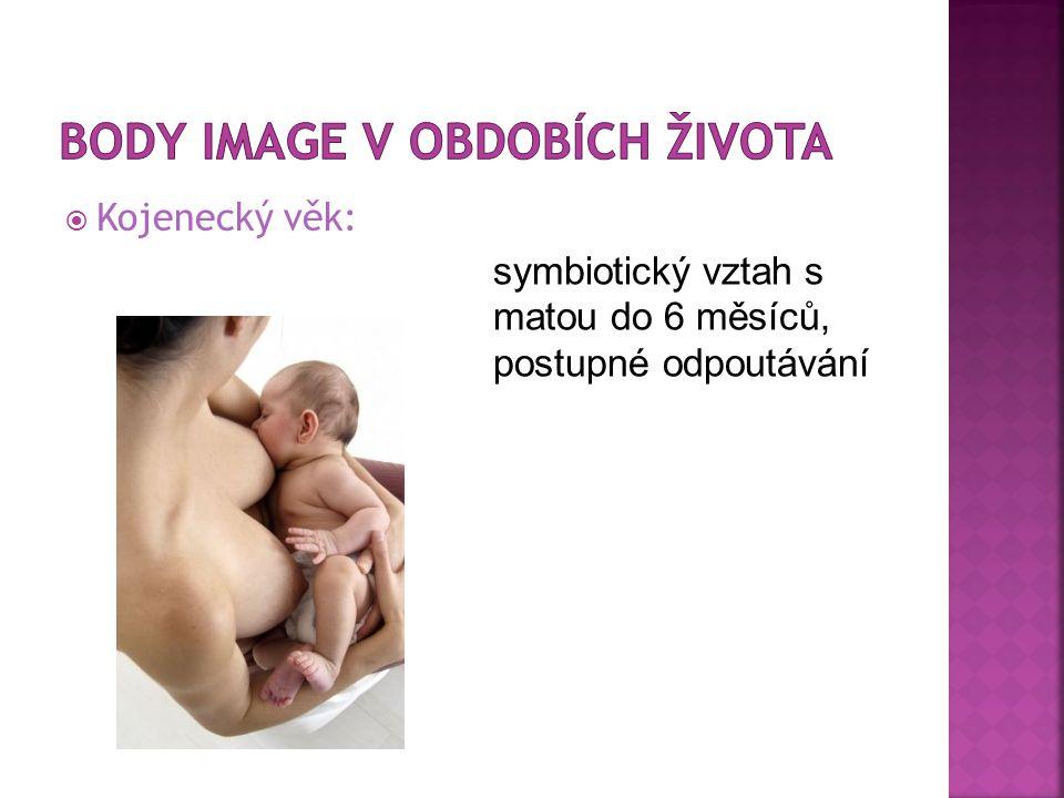  Kojenecký věk: symbiotický vztah s matou do 6 měsíců, postupné odpoutávání