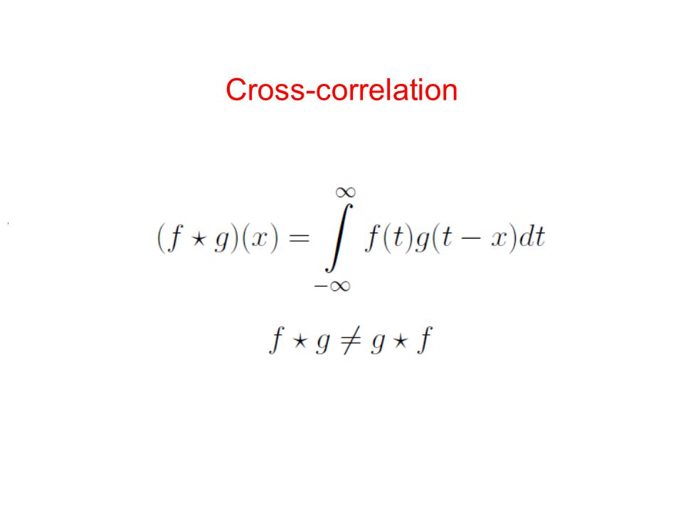 Cross-correlation,