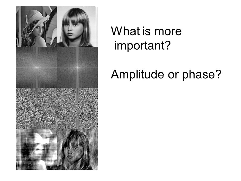 What is more important? Amplitude or phase?
