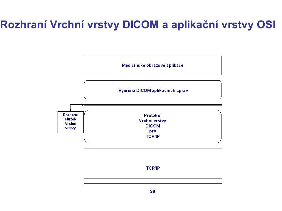 Rozhraní Vrchní vrstvy DICOM a aplikační vrstvy OSI