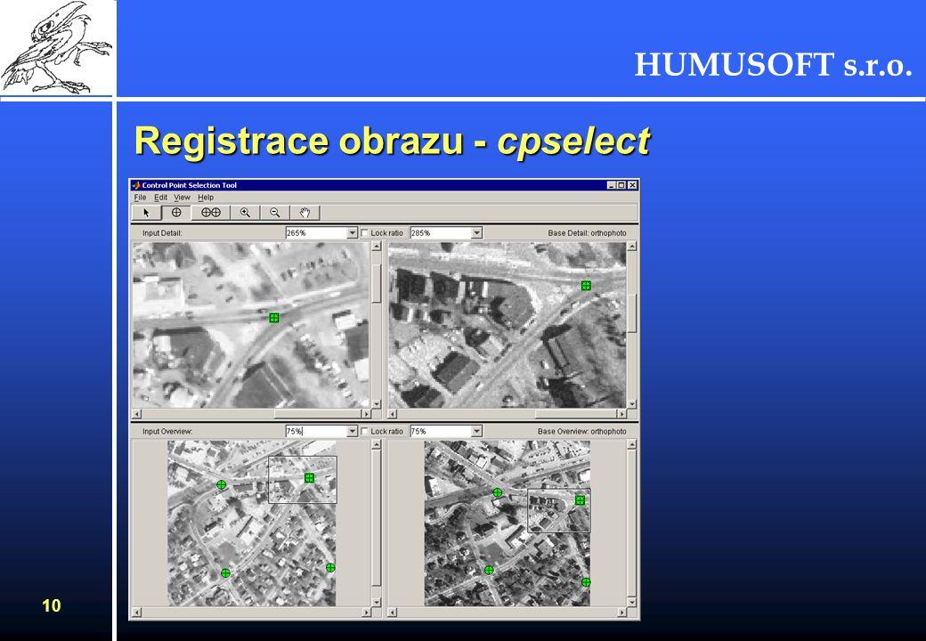 HUMUSOFT s.r.o. 10 Registrace obrazu - cpselect