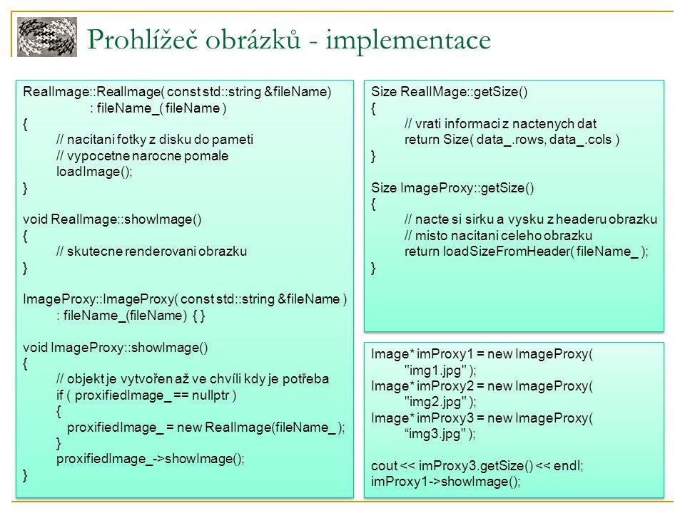 Prohlížeč obrázků - implementace RealImage::RealImage( const std::string &fileName) : fileName_( fileName ) { // nacitani fotky z disku do pameti // v
