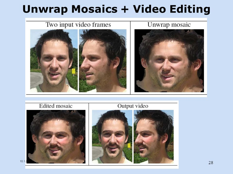 Unwrap Mosaics + Video Editing 10.1.2013 28